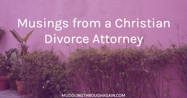 An ordained minister shares her thoughts on prayer, the Church, and her day job as a divorce lawyer.